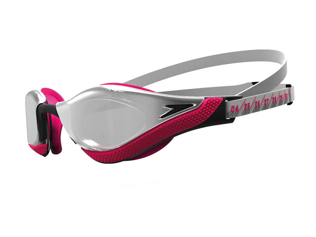speedo Fastskin Pure Focus Mirror Lunettes de natation, silver/psycho red/black/chrome